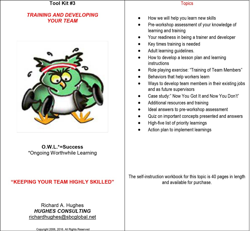 Training and Developing Your Team